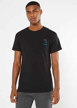 Black Promises Embroidered Tee