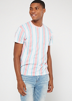 Light Pink Vertical Striped Tee