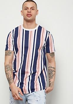 Light Pink Striped Short Sleeve Tee