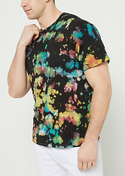 Black Tie Dye Watercolor Tee