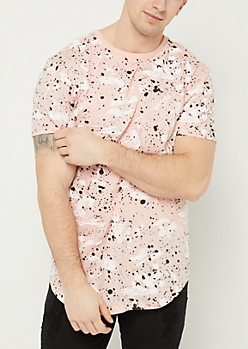 Pink Paint Splatter Brush Stroke Tee