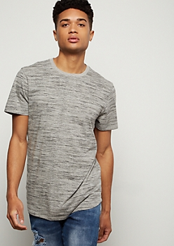 Gray Space Dye Short Sleeve Essential Tee