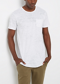 White Mineral Long Length Essential Tee