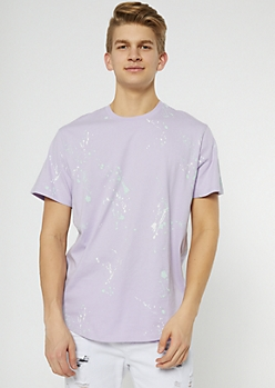 Lavender Paint Splattered Tee