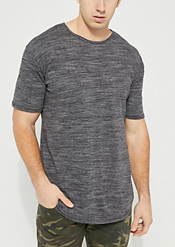 Gray Space Dyed Short Sleeve Crewneck Tee