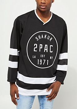Black Tupac Hockey Jersey