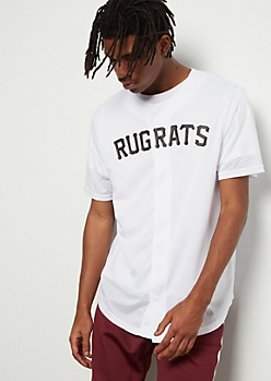 White Mesh Rugrats Graphic Jersey