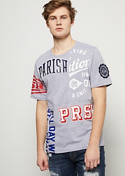 Parish Nation Gray Varsity Graphic Tee