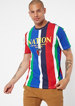 Parish Nation Striped Embroidered Tee