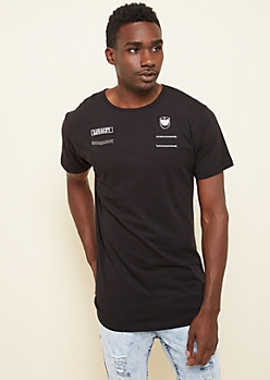 Black Loyalty Military Patch Long Tee