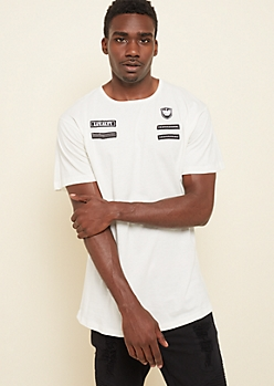 White Loyalty Military Patch Long Tee