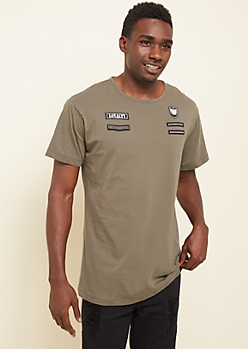 Olive Loyalty Military Patch Long Tee