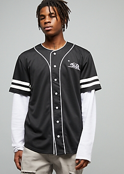 Black California Bear 31 Varsity Graphic Baseball Jersey