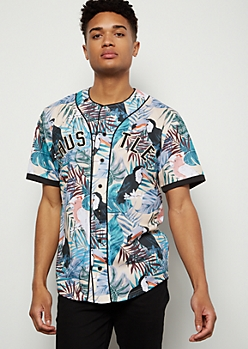 Tropical Print Hustle Graphic Jersey