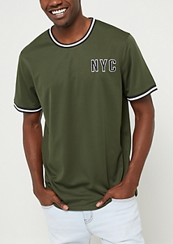 Green New York Mesh Tee