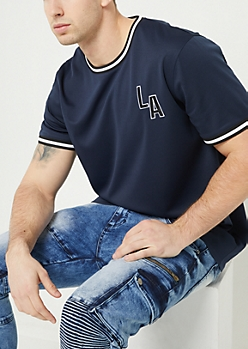 Navy Los Angeles Mesh Tee