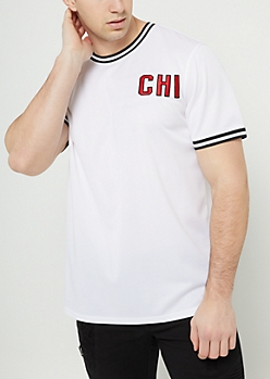 White Chicago Mesh Tee