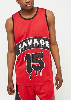 Red Colorblock Savage Jersey