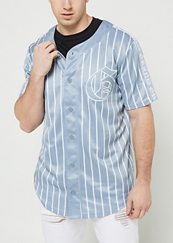 Gray Grand Pinstriped Jersey