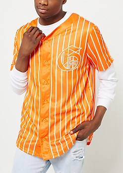 Orange Grand Pinstriped Jersey