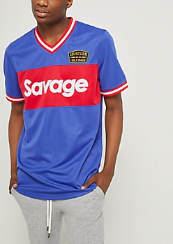 Royal Blue Savage Colorblock Jersey
