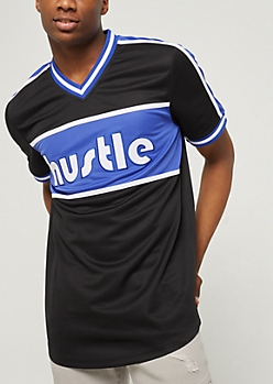 Black Hustle Color Block Jersey