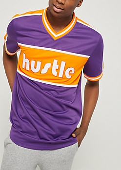 Purple Hustle Color Block Jersey