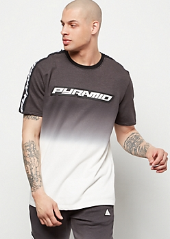 Black Pyramid Black Gradient Tee