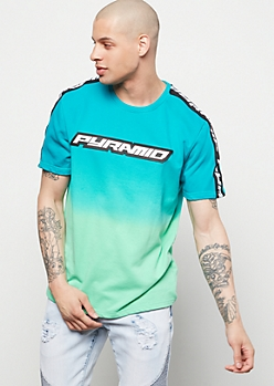 Black Pyramid Green Gradient Tee
