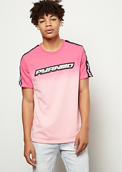 Black Pyramid Pink Gradient Tee