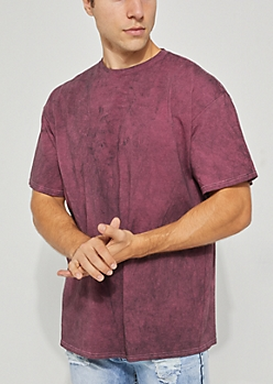 Burgundy Mineral Washed Tee