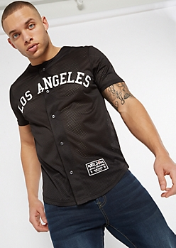 Black Poetic Justice Baseball Jersey Top