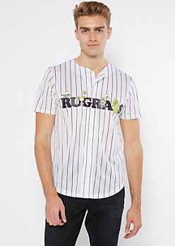 White Pinstriped Rugrats Short Sleeve Jersey