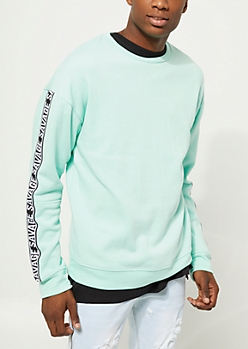 Mint Savage Tape Crewneck Sweatshirt
