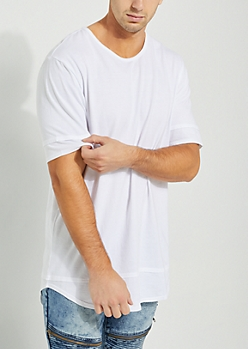Double-Layered Longer Length White Tee
