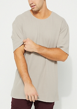 Sand Longer Length Thermal Tee
