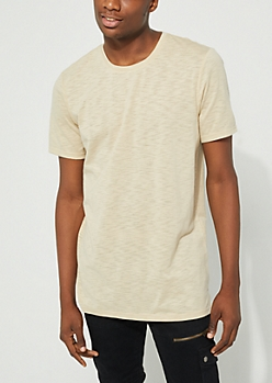 Sand Slub Knit Long Length Tee