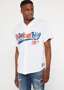Do The Right Thing White Baseball Tee