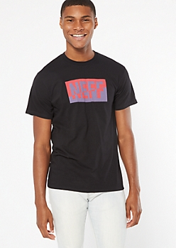 Black Sliced Neff Colorblock Graphic Tee