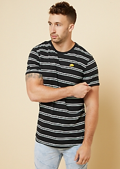 Black Double Striped Taco Patch Tee