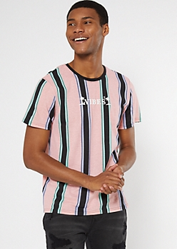Light Pink Striped Vibes Tee