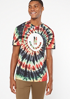 Black Tie Dye Neff Smile Graphic Tee