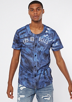 Blue Tie Dye Los Angeles Worldwide Jersey