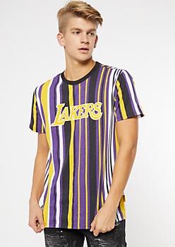 NBA Los Angeles Lakers Purple Striped Tee
