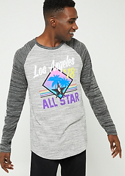 Gray NBA All Star Long Sleeve Tee