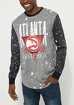 Atlanta Hawks Paint Splattered Long Sleeve Tee