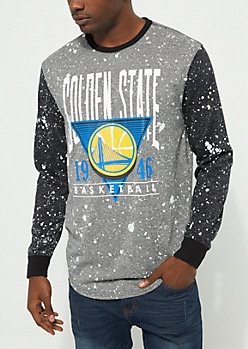 Golden State Warriors Paint Splattered Long Sleeve Tee