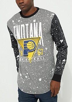 Indiana Pacers Paint Splattered Long Sleeve Tee