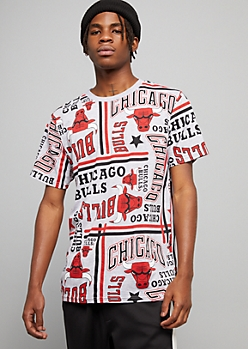 NBA Chicago Bulls Gray Striped Short Sleeve Tee