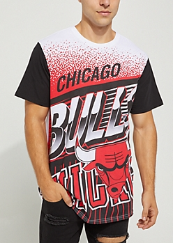 Chicago Bulls Crackled Logo Tee